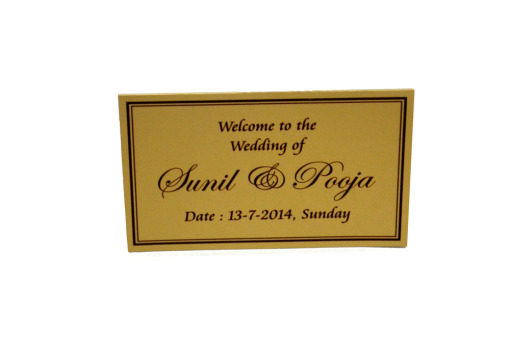 Matching Table Card or Place Card Front Top View