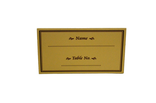 Matching Table Card or Place Card Back Top View