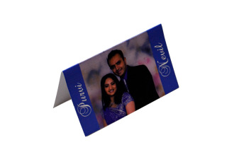 Couple Photo Table Card Front View