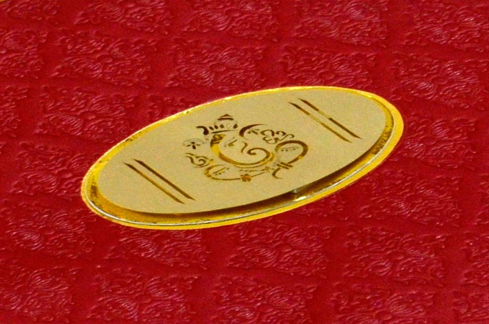 Budget Hindu Wedding Card CD 702 Zoom View