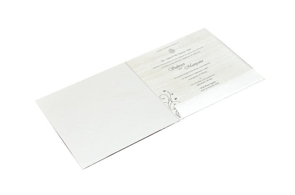 Budget Hindu Wedding Card CD 703 Top View