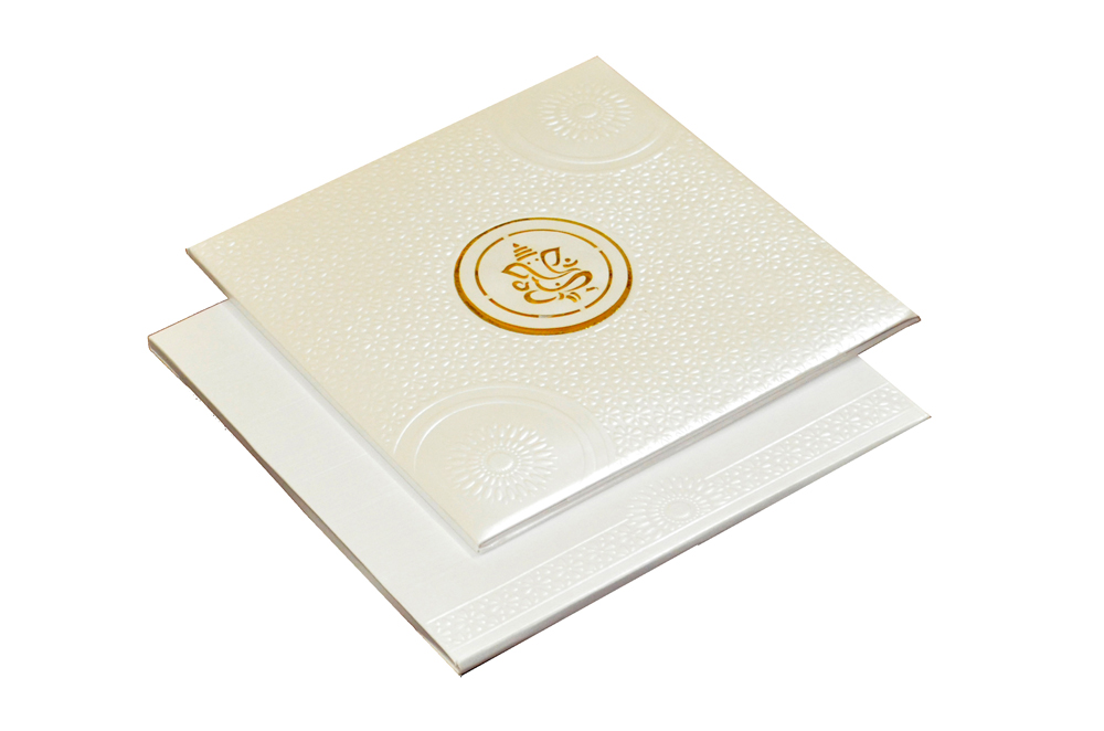 Hindu Laser Wedding Card CD 728