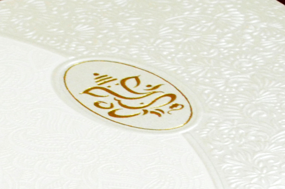 Padded Hindu Wedding Card CD 911 Zoom View