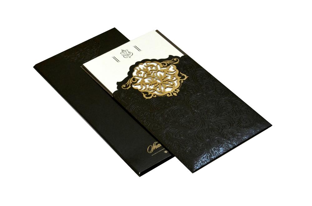 Designer Laser Wedding Card CD 921