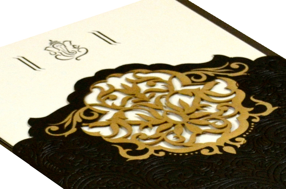 Designer Laser Wedding Card CD 921 Zoom View