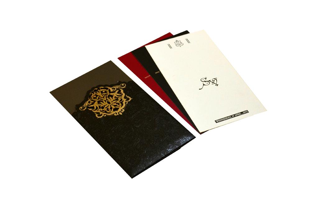 Designer Laser Wedding Card CD 921 Inside View