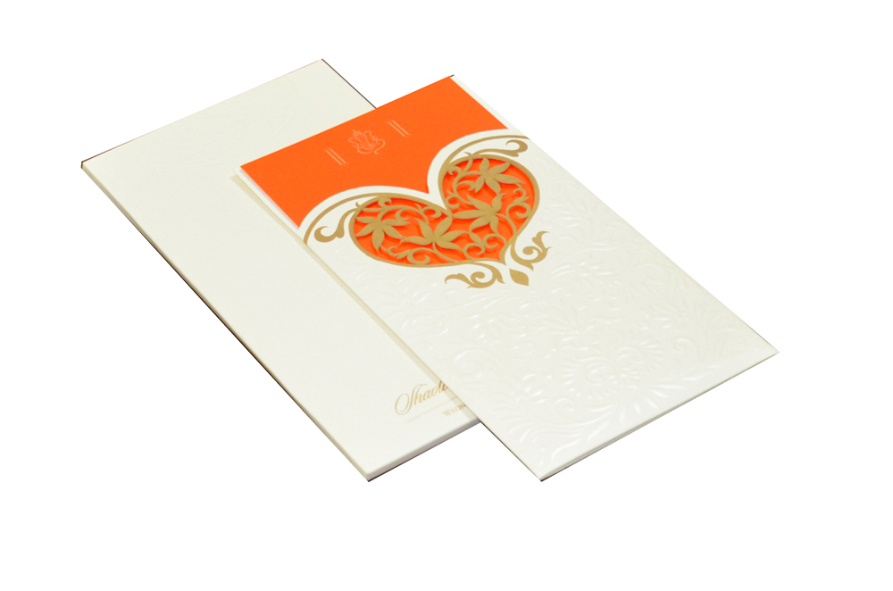 Designer Heart Shaped Laser Wedding Card CD 925