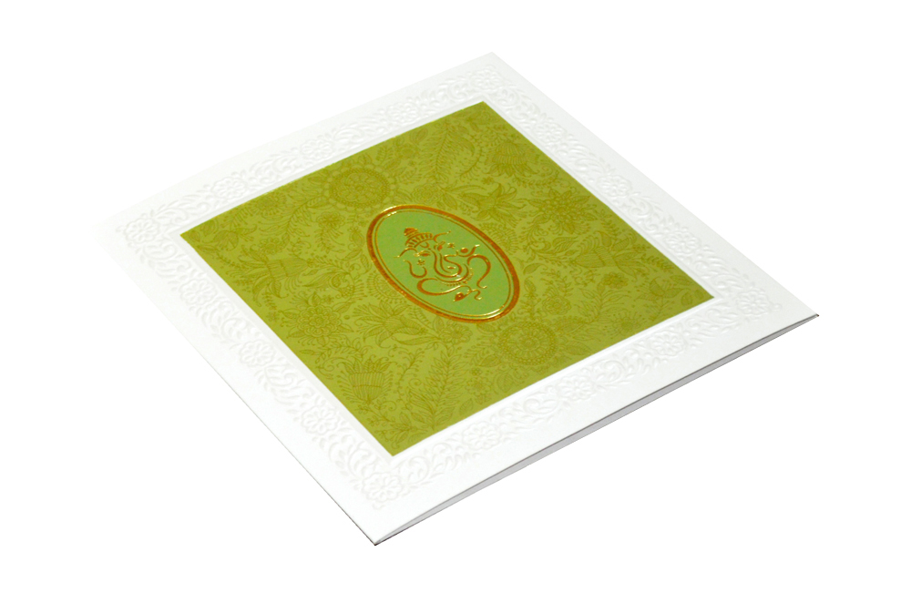 Green Hindu Wedding Card CD 926 Card
