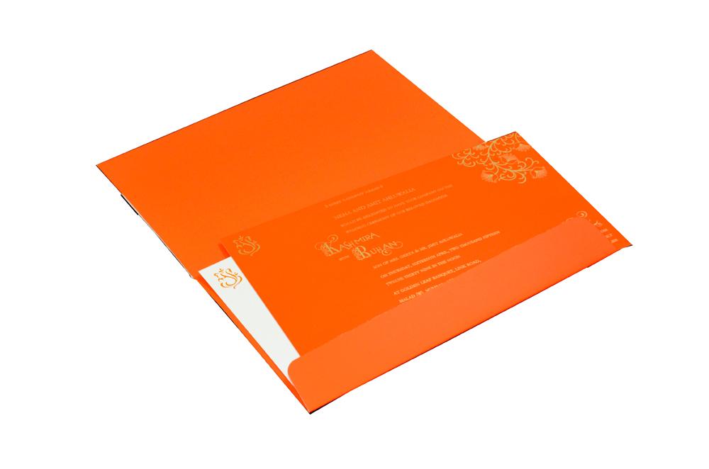 Hindu Laser Wedding Card CD 928 Inside View