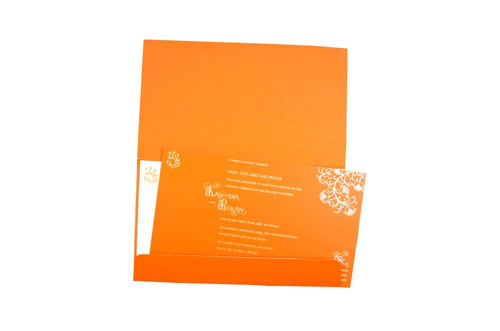 Hindu Laser Wedding Card CD 928 Top Inside View