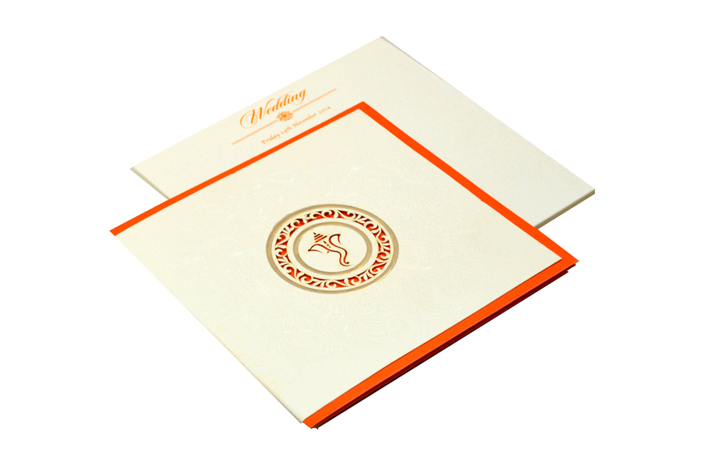 Hindu Laser Wedding Card CD 930