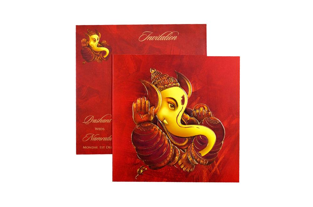 Hindu Wedding Card CD 949 Top View