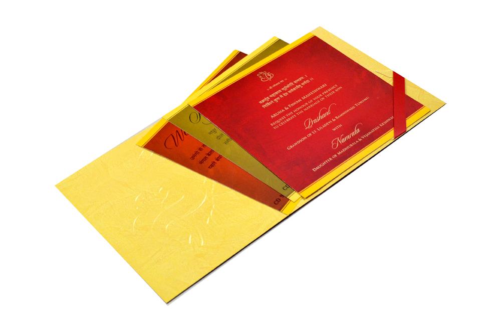 Hindu Wedding Card CD 949 Inside View