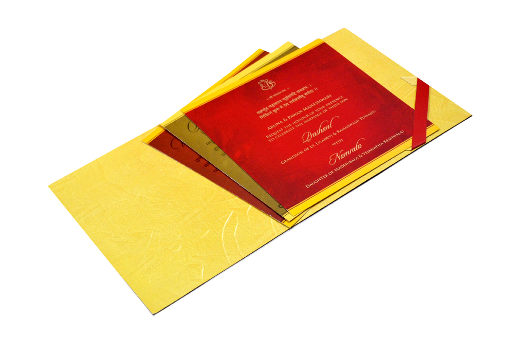 Hindu Wedding Card CD 950 Inside View