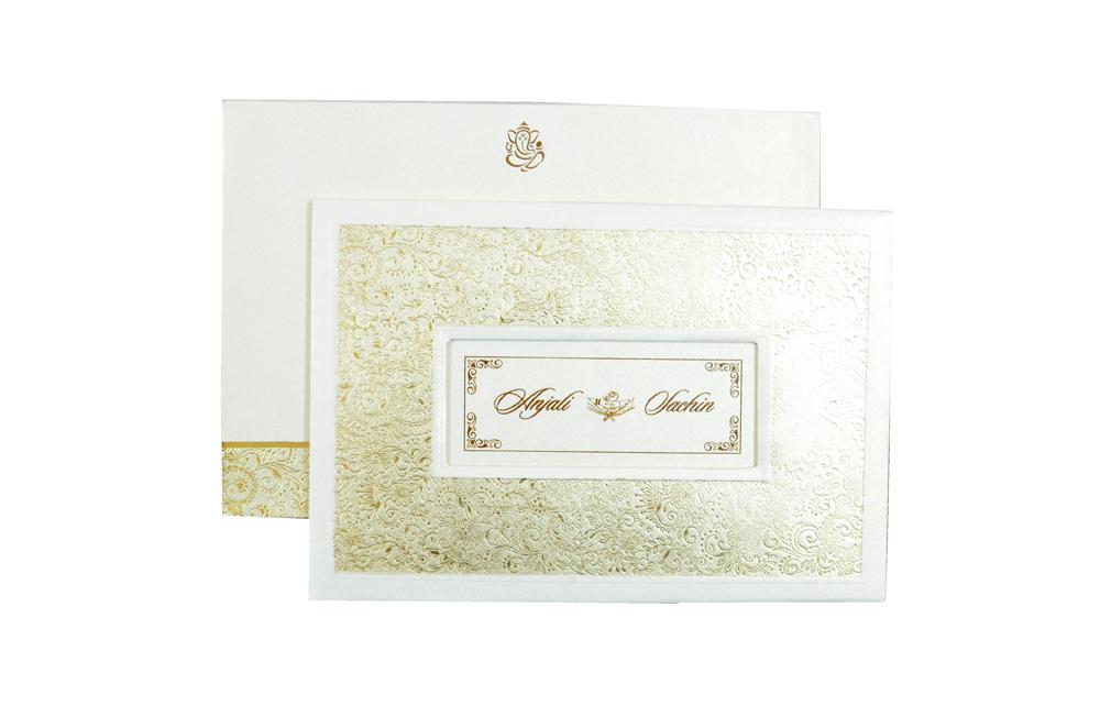 Designer Wedding Card CD 967 Top View