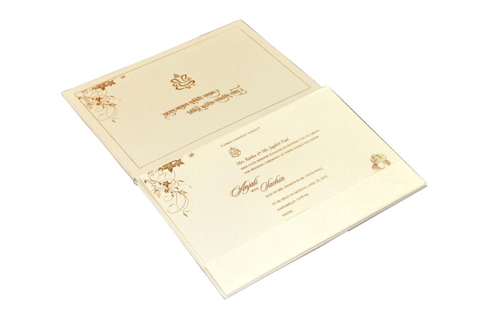 Designer Wedding Card CD 967 Inside View