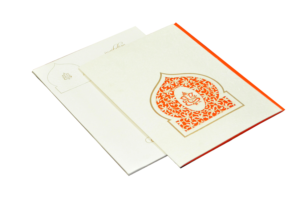 Hindu Laser Cut Wedding Card CD 970