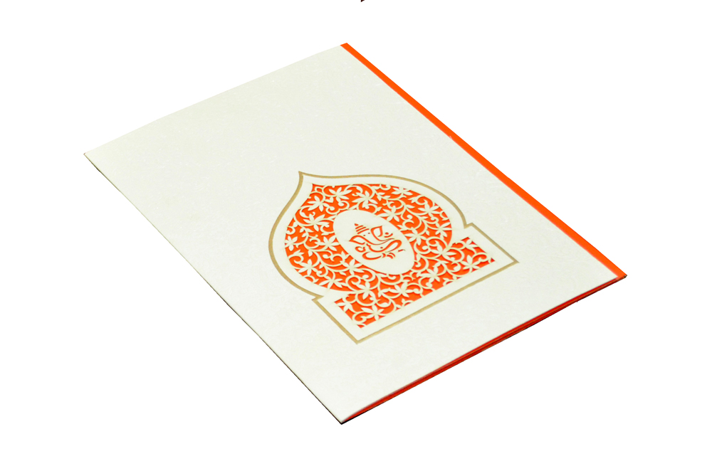 Hindu Laser Cut Wedding Card CD 970 Card