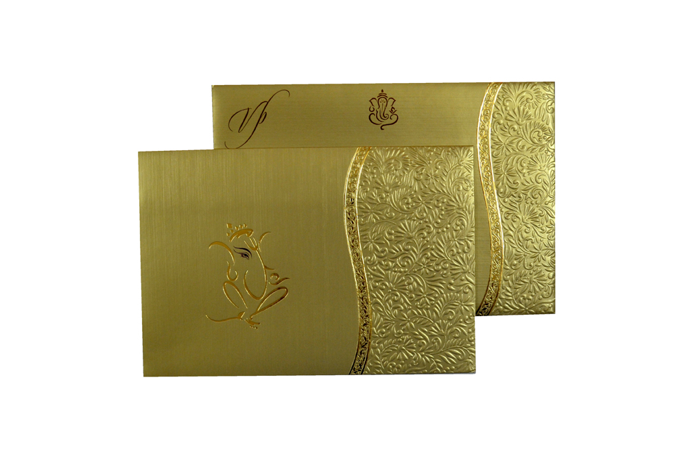 Hindu Wedding Card CD 972 Top View