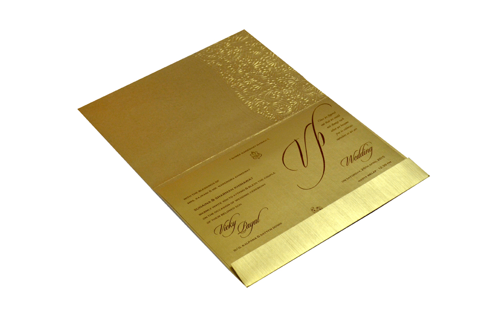Hindu Wedding Card CD 972 Inside View