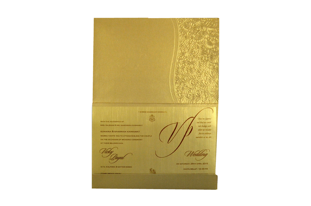 Hindu Wedding Card CD 972 Top Inside View