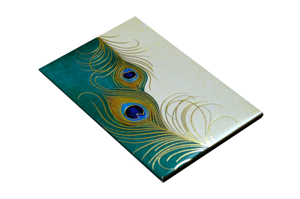 Designer Peacock Theme Wedding Card MCC 5549 Card