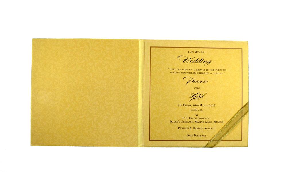 Designer Wedding Card MCC 5564 Top Inside View