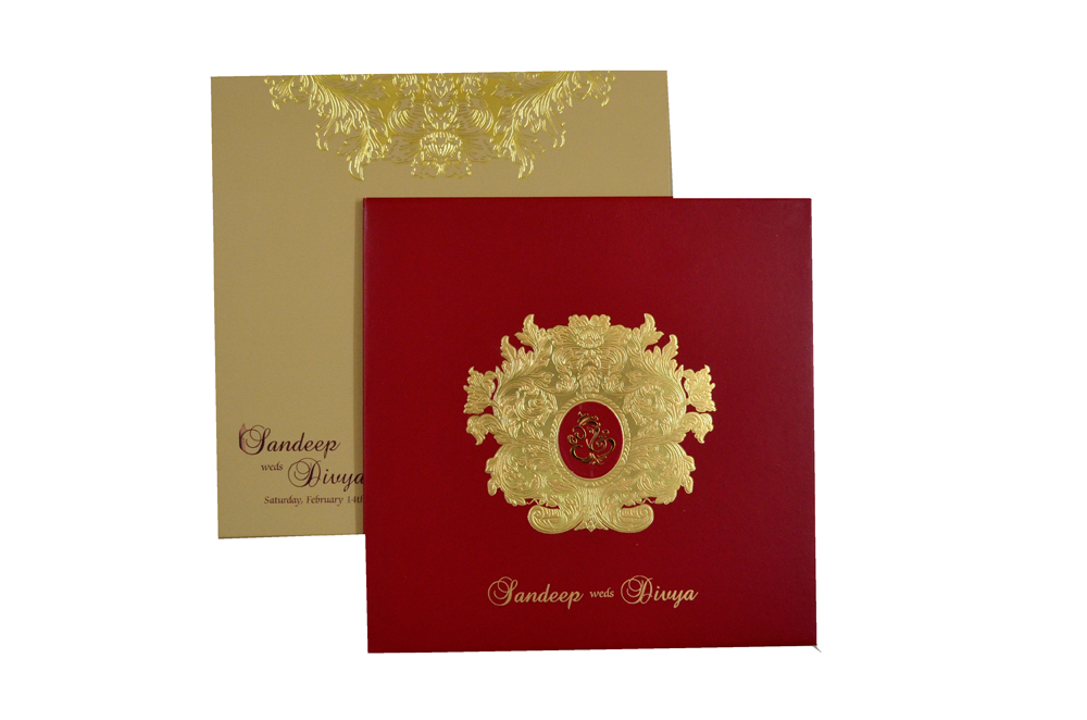 Padded Wedding Card MCC 6612 Top View