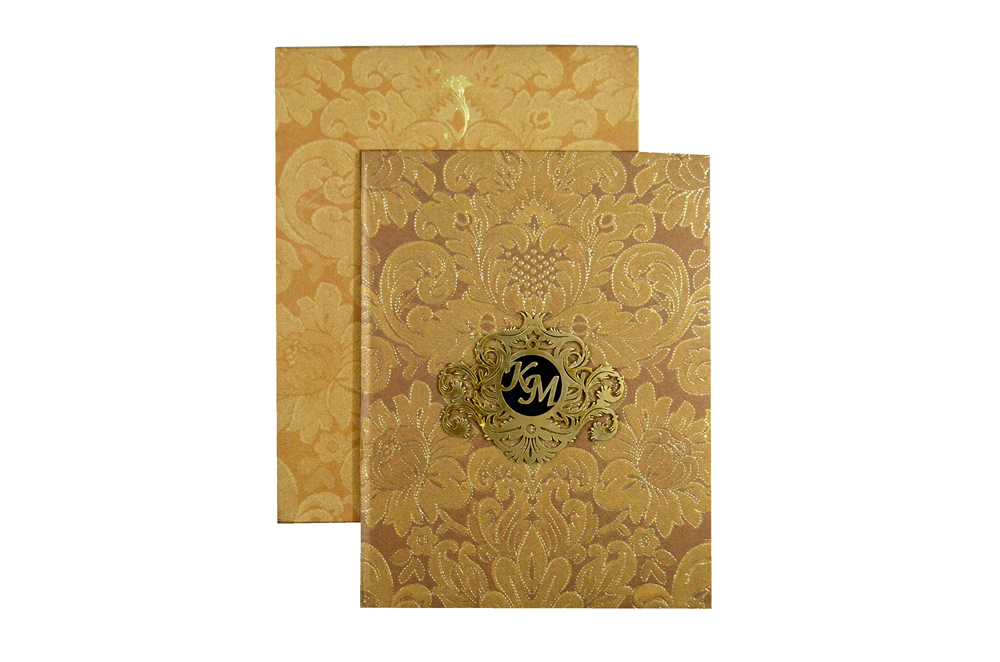 Laser Padded Wedding Card MCC 6618 Top View