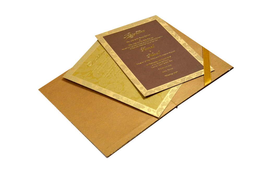 Laser Padded Wedding Card MCC 6618 Inside View