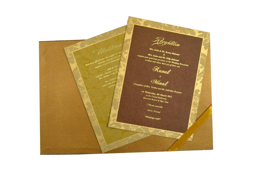 Laser Padded Wedding Card MCC 6618 Top Inside View