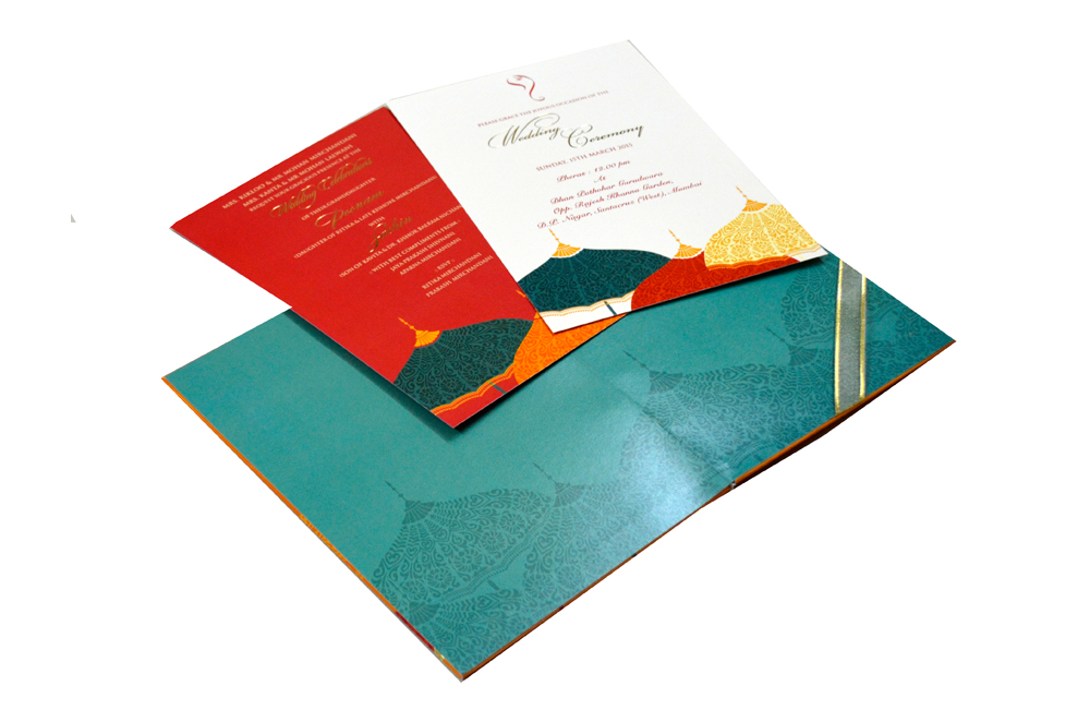 Designer Wedding Card MCC 6625 Inside View