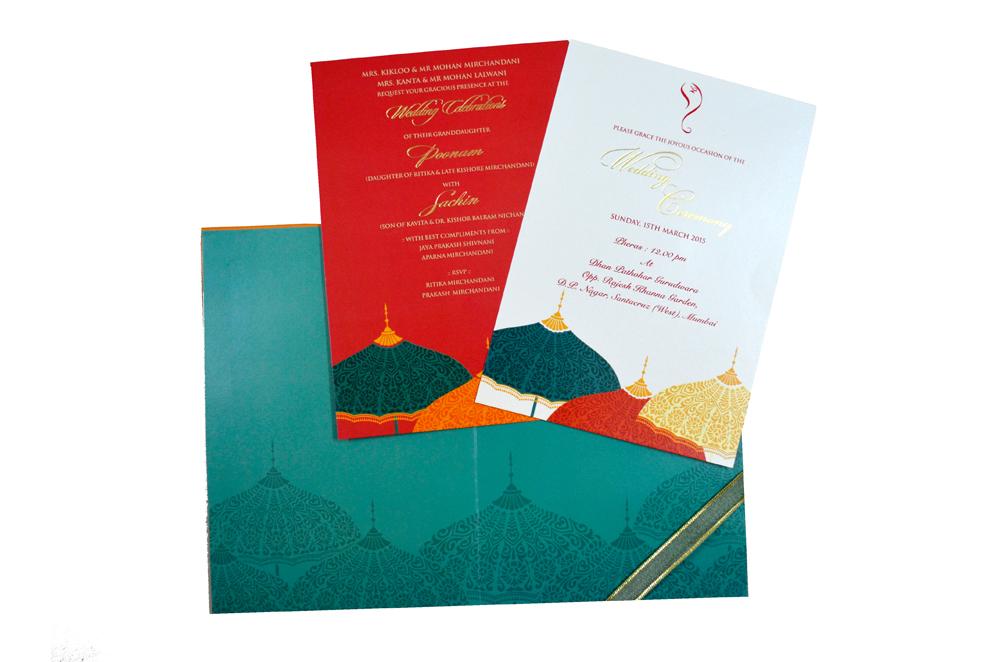 Designer Wedding Card MCC 6625 Top Inside View
