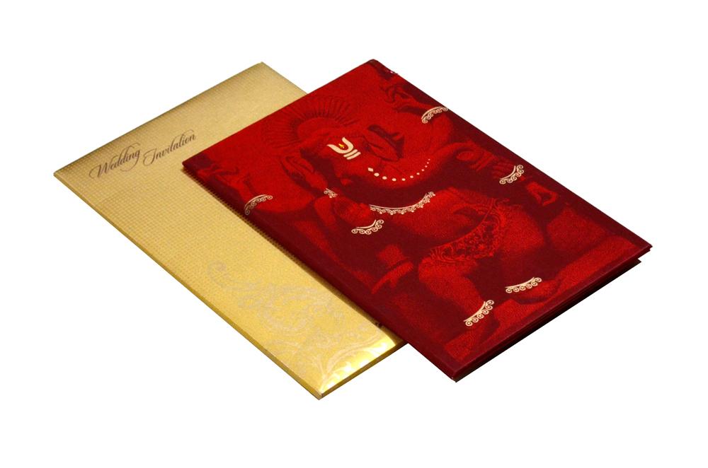 Ganesh Theme Wedding Card MCC 6627