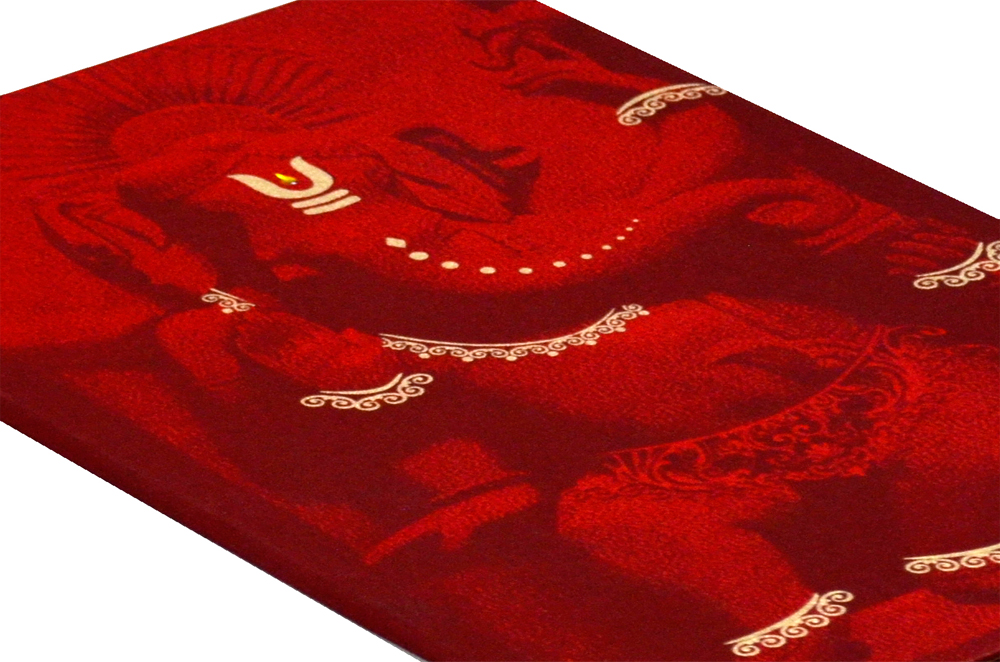 Ganesh Theme Wedding Card MCC 6627 Zoom View