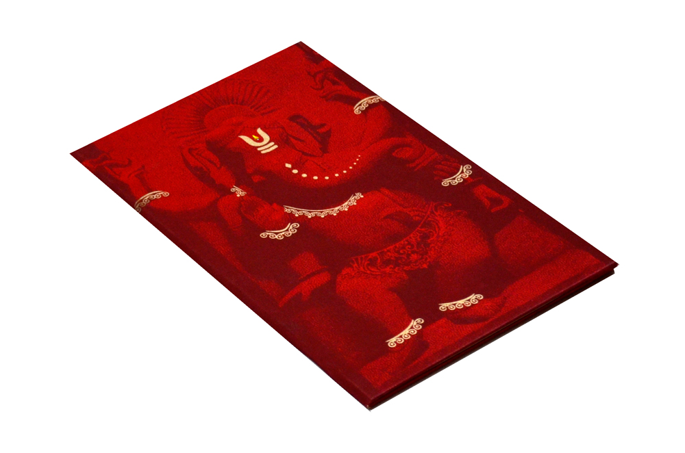 Ganesh Theme Wedding Card MCC 6627 Card