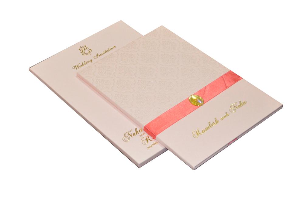 Pink Designer Wedding Card MCC 6628