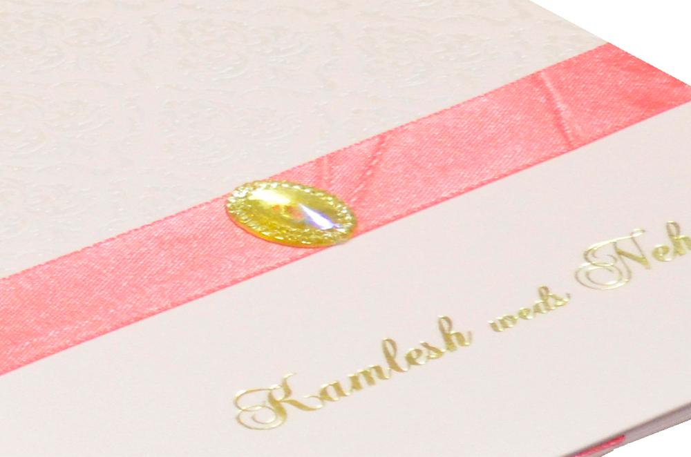 Pink Designer Wedding Card MCC 6628 Zoom View