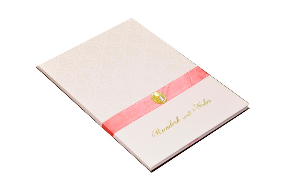 Pink Designer Wedding Card MCC 6628 Card