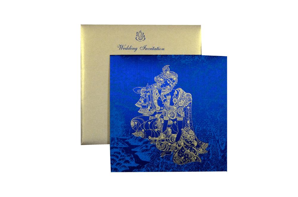 Radha Krishna Theme Wedding Card MCC 6630 Top View