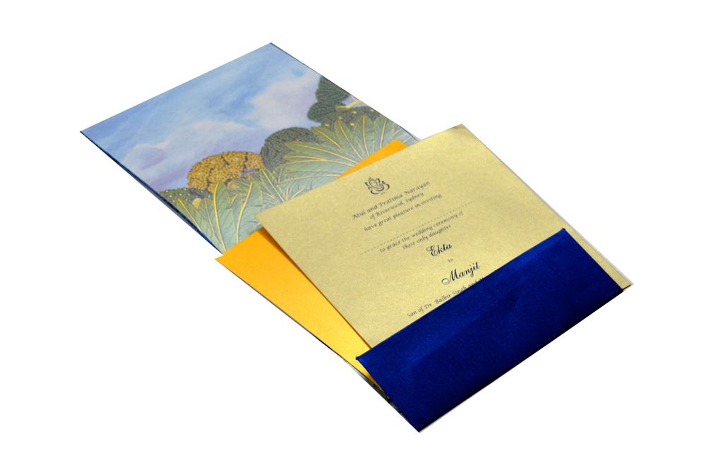 Radha Krishna Theme Wedding Card MCC 6630 Inside View