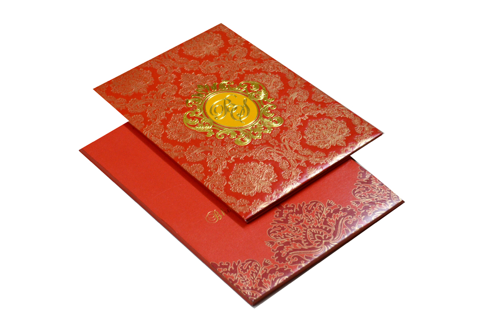 Designer Padded Wedding Card MCC 6631