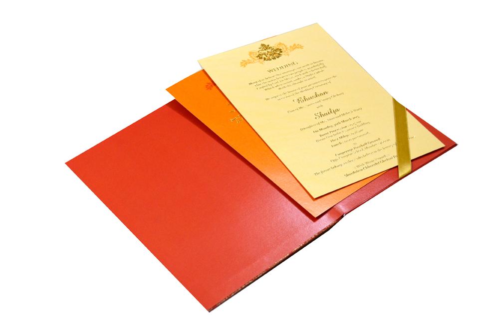 Designer Padded Wedding Card MCC 6631 Inside View
