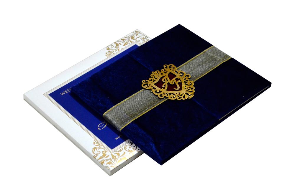 Designer Velvet Wedding Card MCC 6634
