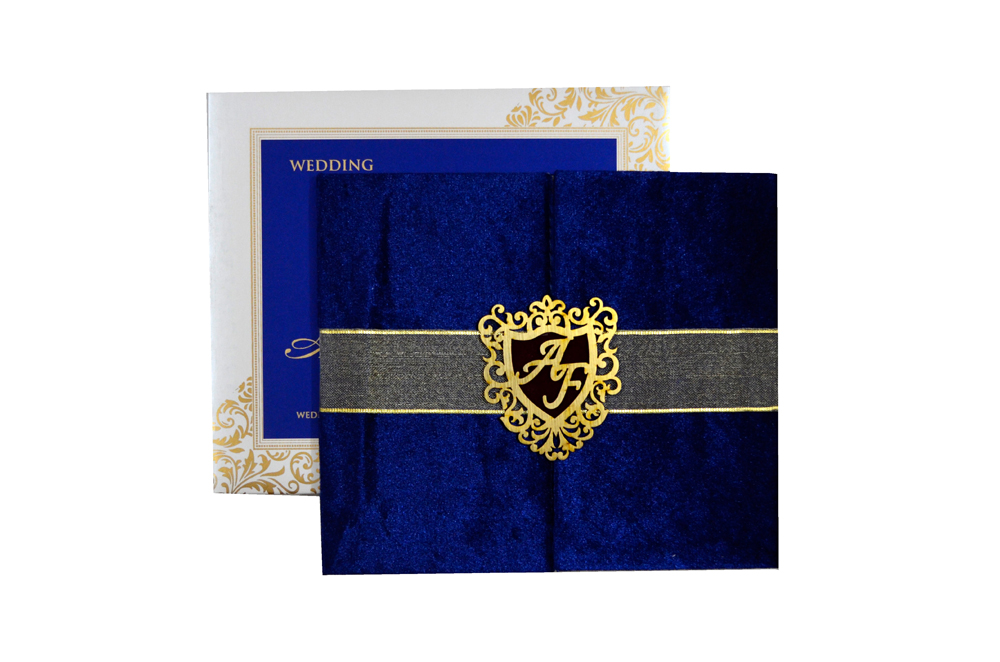 Designer Velvet Wedding Card MCC 6634 Top View