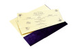 Purple Velvet Jewelled Wedding Card MCC 6647 Inside View