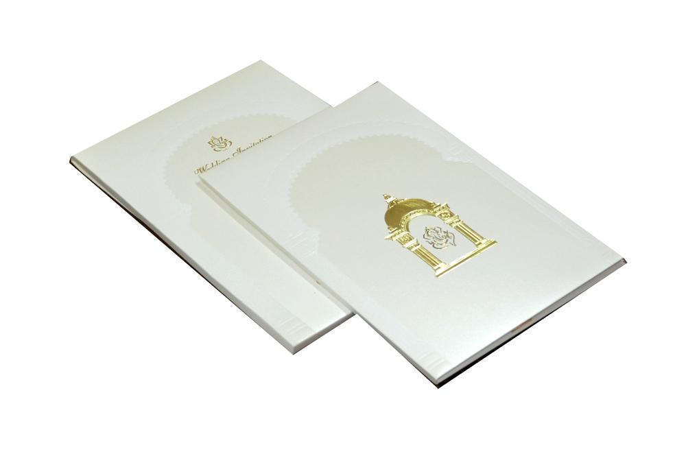 Padded Hindu Wedding Card MCC 6651