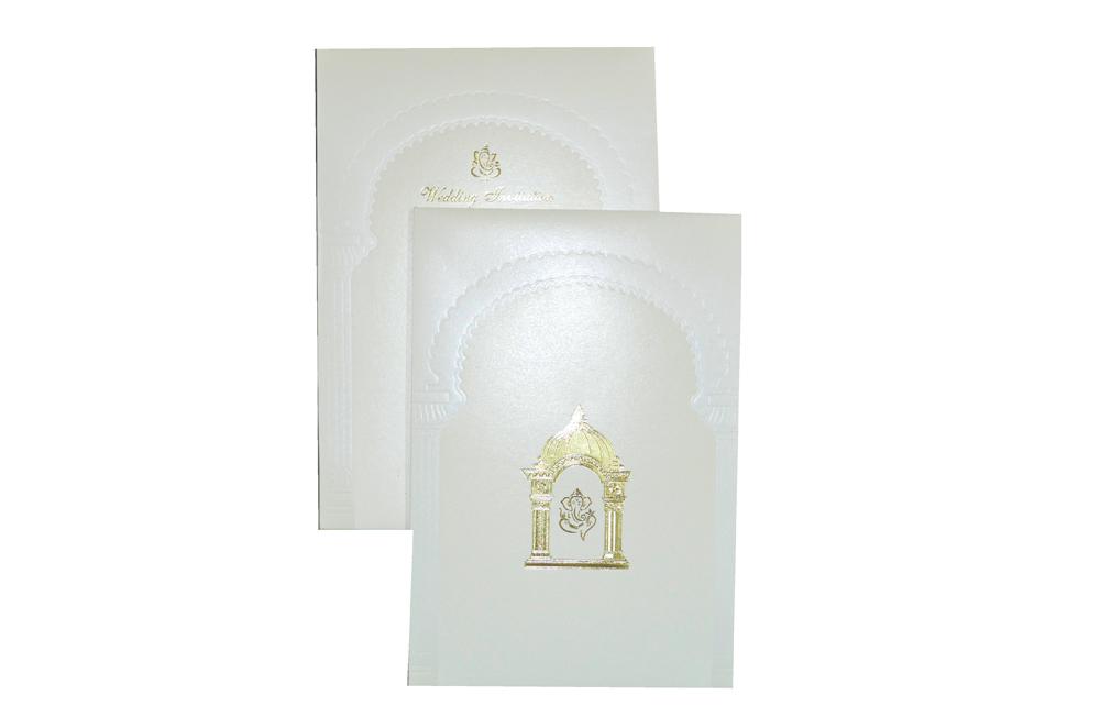Padded Hindu Wedding Card MCC 6651 Top View