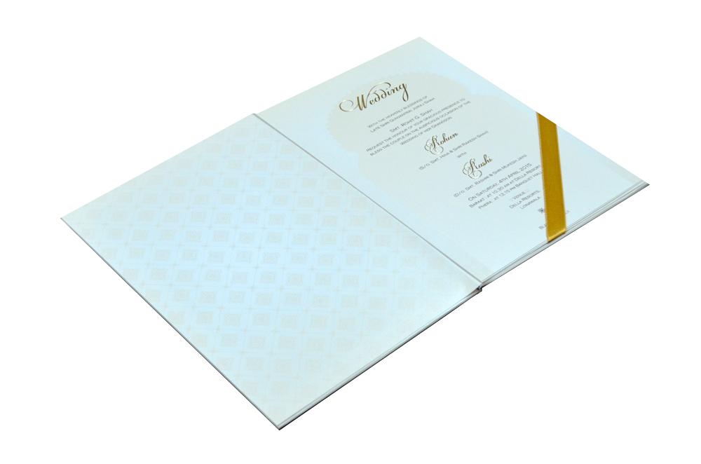 Padded Hindu Wedding Card MCC 6651 Inside View