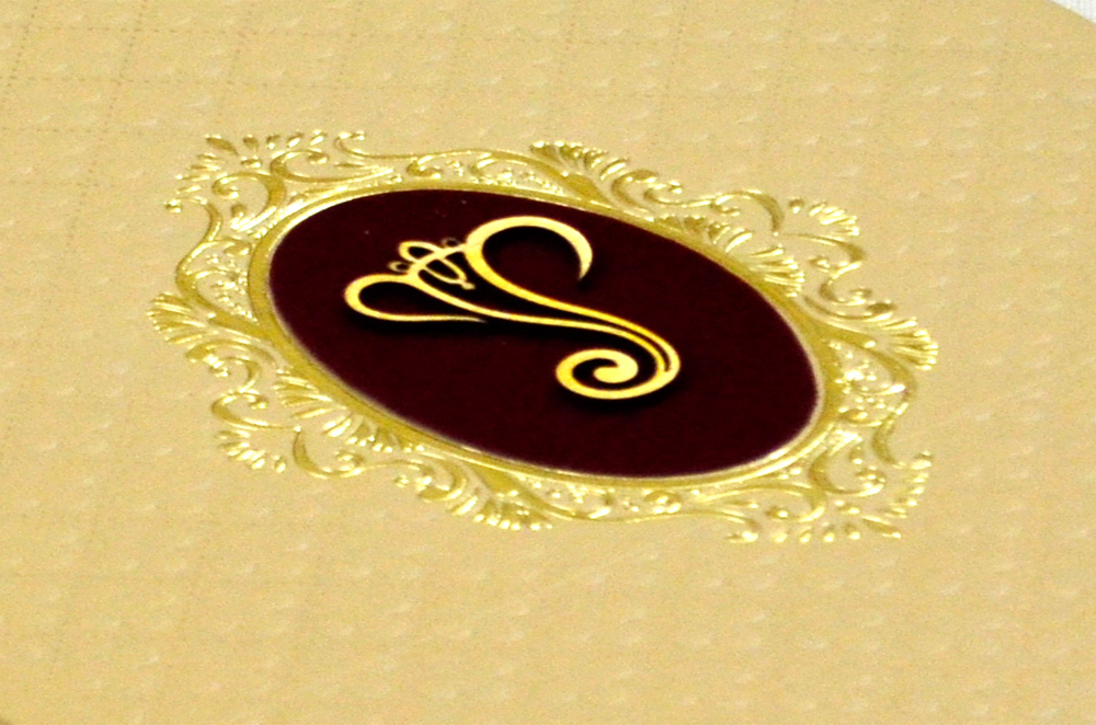 Padded Hindu Wedding Card MCC 6660 Zoom View
